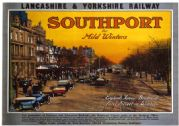 Southport for Mild Winters, Merseyside. LYR Vintage Travel Poster print 1918